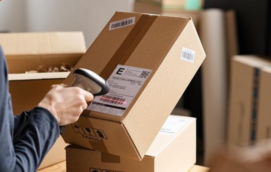 shipper scanning box