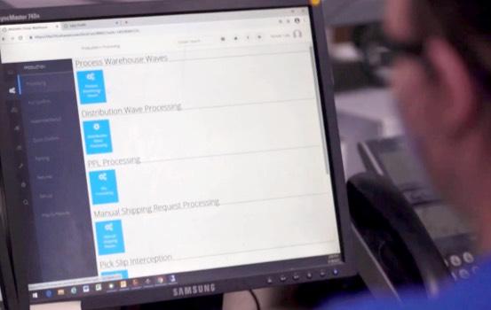 inventory platform on computer screen